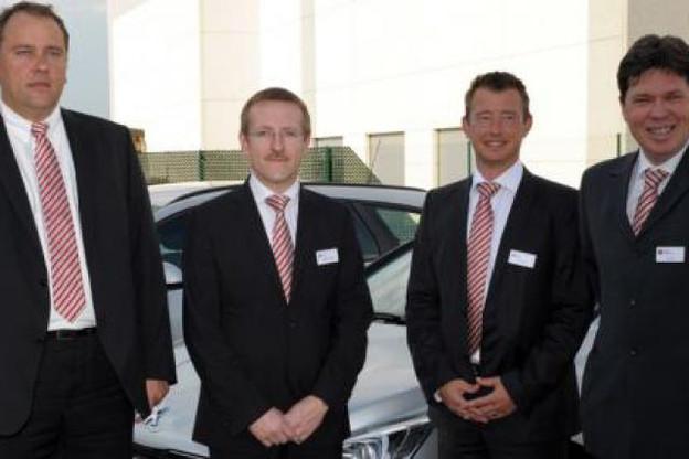 Paul Trierweiler, sales manager, Dominique Roger, country manager, Gerrit Canipel, sales manager et Luc Berhin, sales director (Photo : ALD Automotive)