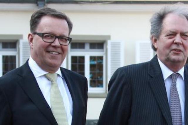Ferdinand Kayser (CCO) et René Steichen, président du conseil d'administration (Photo : SES)
