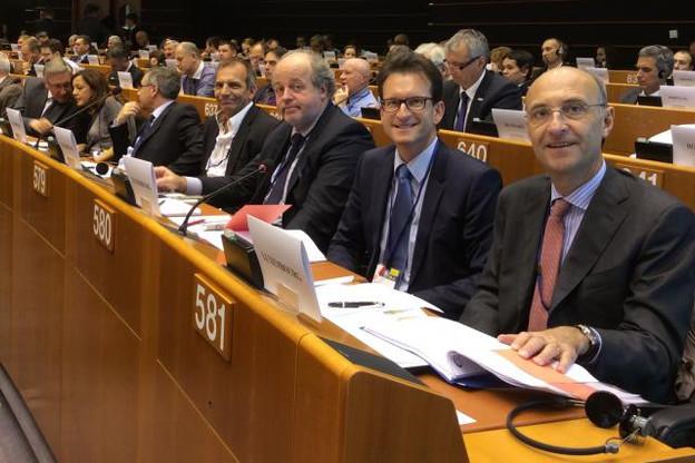 Michel Wurth et Carlo Thelen ont mené la délégation luxembourgeoise composée de 11 entrepreneurs. (Photo: Chambre de Commerce)