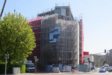 Ikogest et Soludec ont célébré aujourd'hui la fin des travaux de gros œuvre de l'immeuble One on One (Photo: Ikogest)