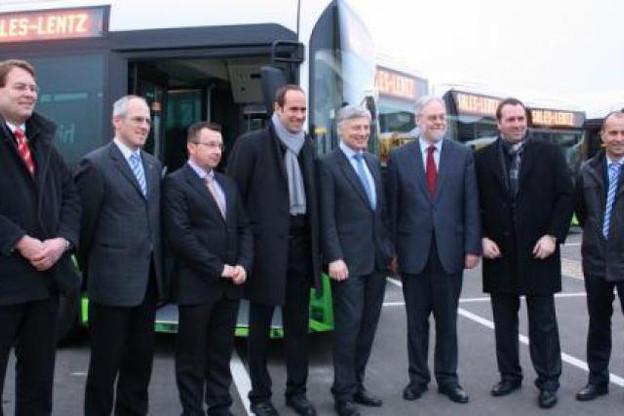 Présentation de la nouvelle gamme de onze autobus hybrides Volvo. (Photo: Sales-Lentz)