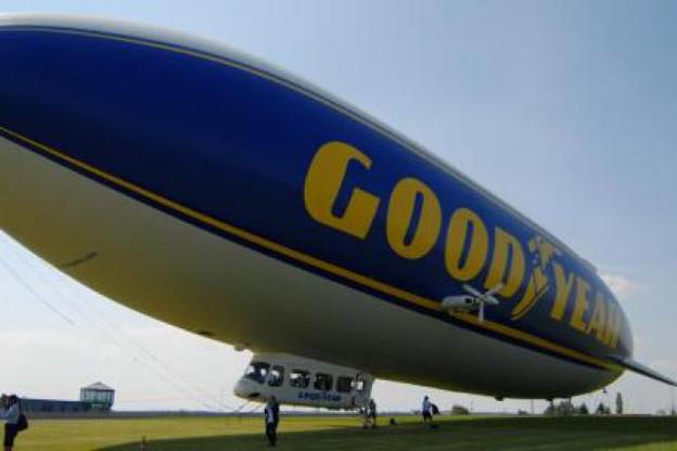 Le Zeppelin Goodyear sur le site de Goodyear à Colmar-Berg en 2010. (Photo: Goodyear)