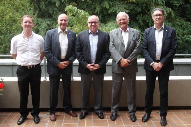 Damon Damiani, CEO Losch, Thierry Van Kan, président Febiac, Luc Bontemps, administrateur délégué Febiac, Thierry Beffort, COO Losch Import, Guido Savi, Febiac Luxembourg. (Photo: Febiac)