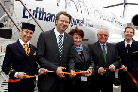 Cérémonie d'inauguration Lufthansa Vol Luxembourg-Munich. (Photo: Lufthansa)