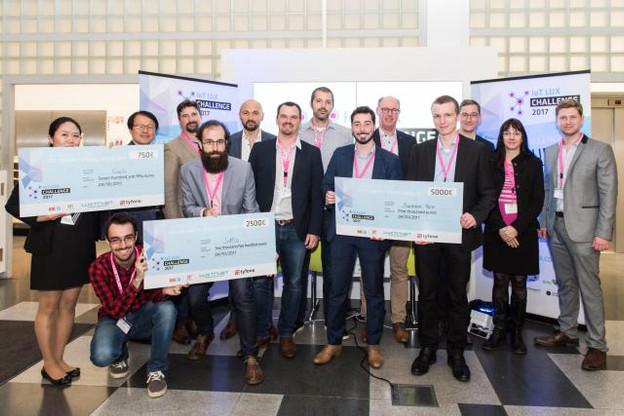 Au total, dix groupes ont été présélectionnés et sept équipes ont développé leurs projets. (Photo: Luxtrust)