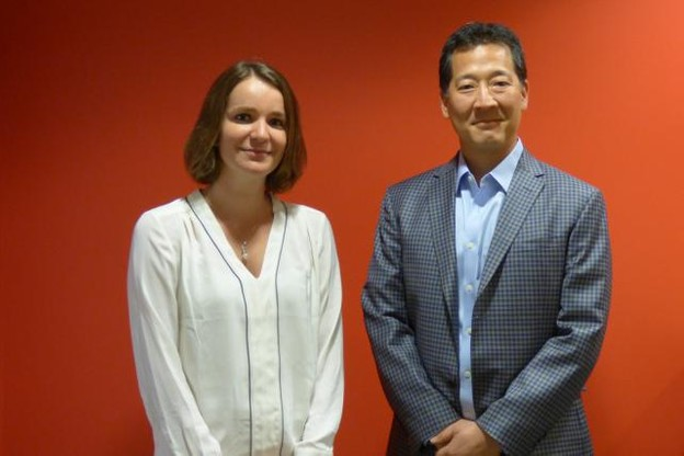 Virginie Simon, CEO MyScienceWork, et William Park, CEO DeepDyve. (Photo: MyScienceWork)