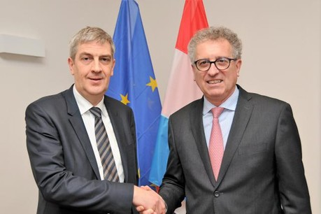 Roland Weyland et Pierre Gramegna. (Photo: Banque centrale du Luxembourg)