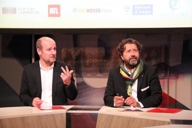 Steve Schmit (directeur des programmes RTL) et Guy Daleiden (directeur Film Fund Luxembourg). (Photo: Film Fund Luxembourg)