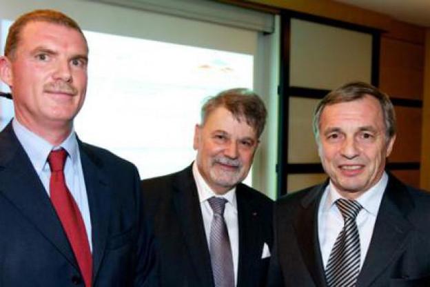 Alain Krecké, Freddy Bracke et Jeannot Krecké (Photo : Chambre de Commerce)