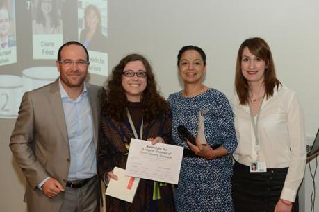 De gauche à droite: Nicolas Lefèvre, Diane Friez, Alice Kapron et Elodie Sowa. (Photo: PwC's Academy)