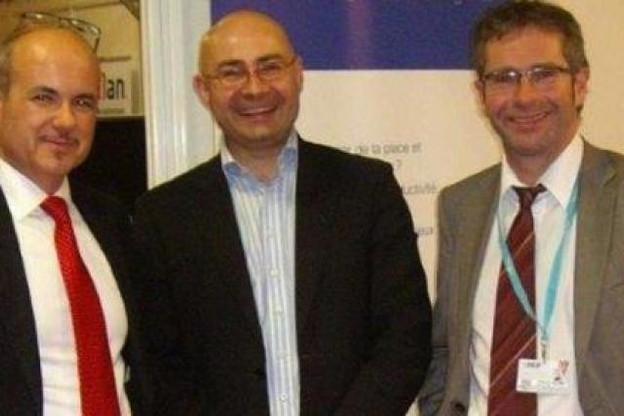 De g à d : Xavier Laignel (Learch), Eric Wanscoor (Qweeby) et Bernard Hermant (Learch) (Photo :Learch)