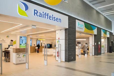 Bien qu'ils soient formellement séparés, les deux locaux sont accolés et symbolisent les liens de partenariat qui existent entre Post et Raiffeisen. (Photo: Raiffeisen - Post Luxembourg)
