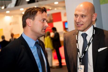 Xavier Bettel, bourgmestre de la Ville de Luxembourg et Vincent Bechet Managing Director de Property Partners. (Photo: Property partners)