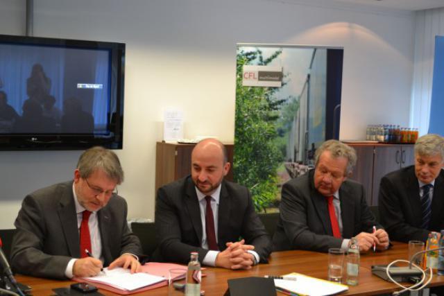 François Benoy, Etienne Schneider, Alex Kremer et Claude Wiseler  (Photo: MECE)