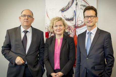 G. Eichen, directeur de la LSC, I. Schlesser, directrice de l'Adem et C. Thelen, directeur général de la Chambre de commerce (Photo: Chambre de Commerce)