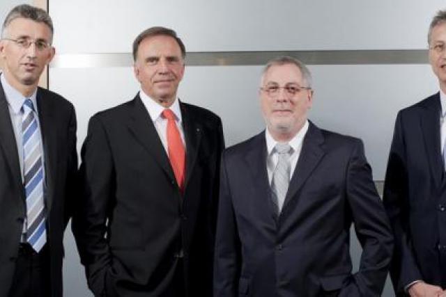 Georges Rassel, Marc Solvi, André Kremer et Frank Wagener (Photo: Paul Wurth)