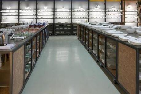 Le centre de magasins d'usine s'est transformé en espace de découverte de 700 m2. (Photo: Villeroy&Boch)