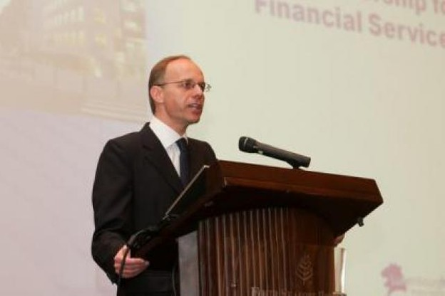 Luc Frieden, ministre des Finances, lors d'une intervention à Riyadh. (Photo: © 2011 SIP / Luc Deflorenne tous droits réservés)