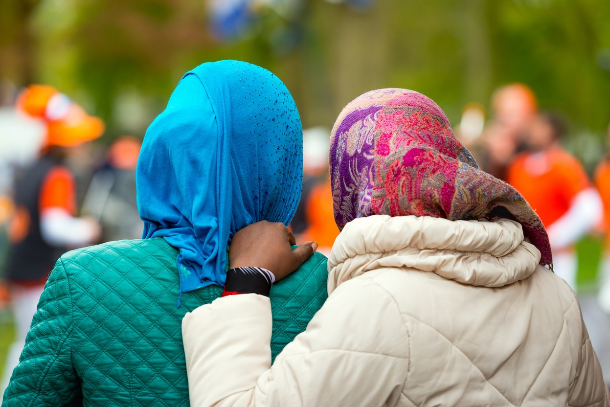 The European Court of Justice ruled, on 15 July 2021, that employers can restrict religious clothing in the workplace when there is a legitimate reason. Library picture: Two women are seen wearing a headscarf in the Netherlands, 2016. Photo credit: Shutterstock/Ruud Morijn
