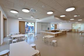 La salle de restauration des enfants permet à la fois de cuisiner et de déguster les repas. ((Photo: Agence Kapture))