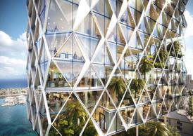 Dans la tour, des espaces verts et des terrasses sont aménagés dans les étges ((Illustration: Metaform Architects))