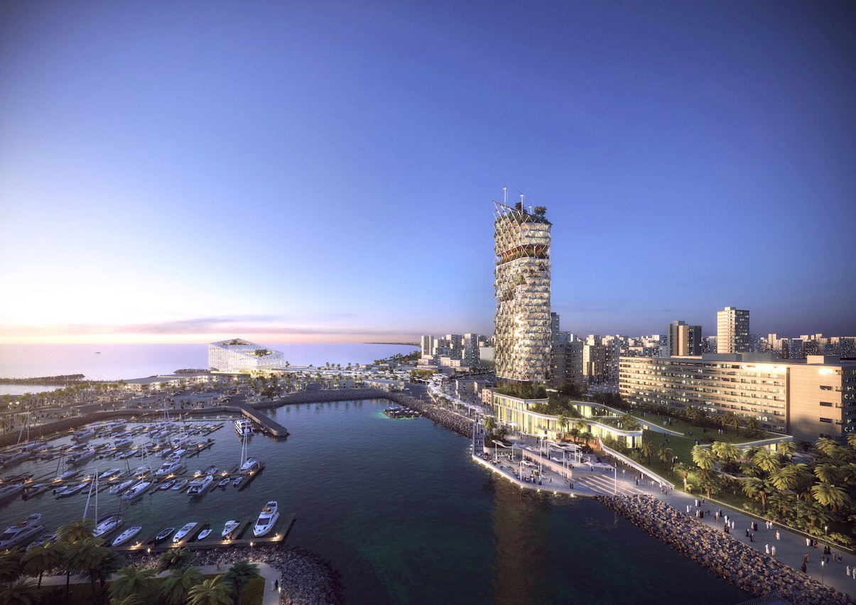 Vue du projet depuis la marina (Illustration: Metaform Architects)