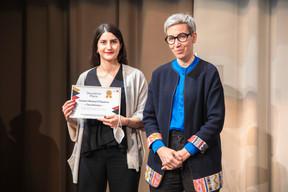 Shabnam Ahani-Kamangar  (Brucher Thieltgen & Partners) et Sam Tanson (Ministre de la Justice) ((Photo: Simon Verjus/Maison Moderne))