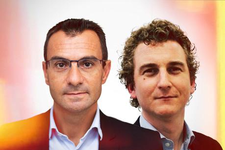 François Lacas, directeur des opérations adjoint chez Yooz et Fabien Vacheret, Expert en change management.  (Photo : Maison Moderne)