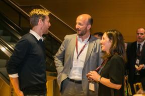 Guillaume Vanoutryve, Mathieu Mathelin et Emmanuelle Thivollard (Maison Moderne) ((Photo: Olivier Dessy))