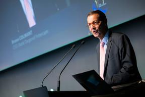 Bruno Colmant (Degroof Petercam) a proposé plusieurs théories concernant le futur de la monnaie. ((Photo: Nelson Coelho/Deloitte Luxembourg))