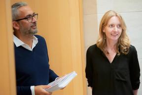Mike Koedinger (Maison Moderne) et Nadine Clemens (Design Friends) ((Photo: Jan Hanrion/Maison Moderne))