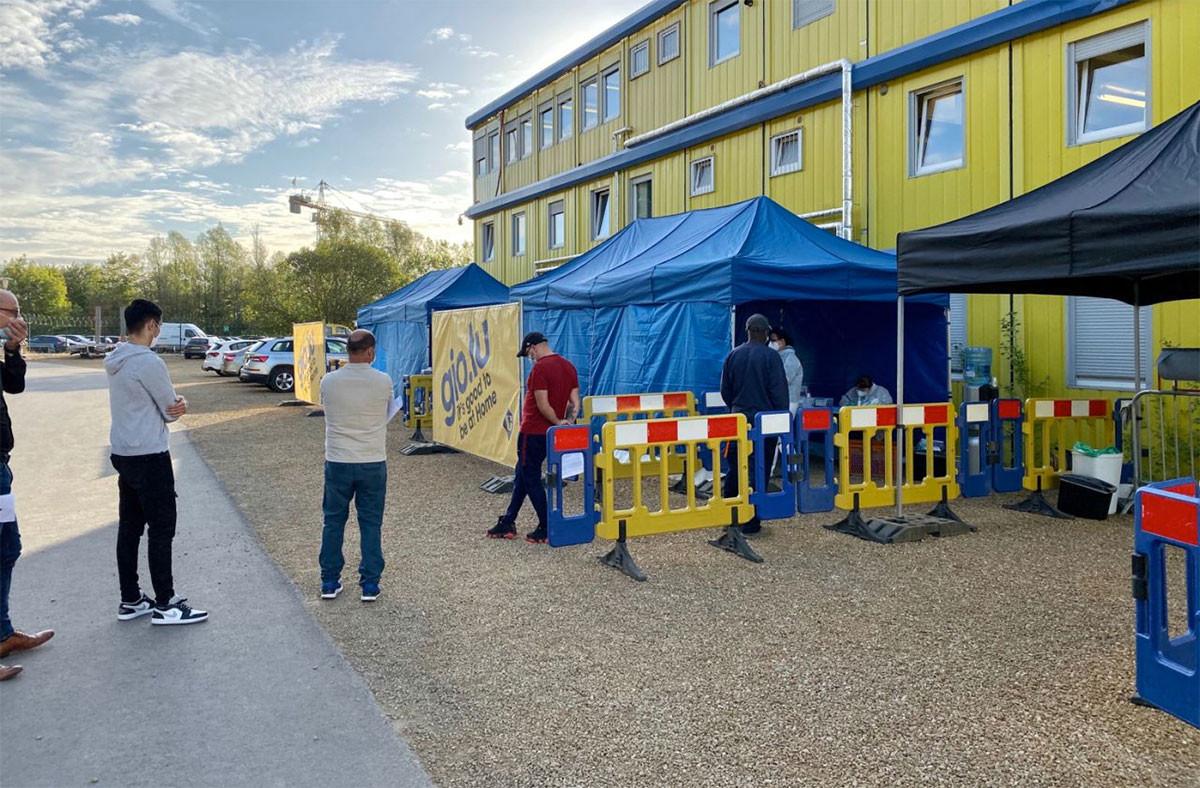 Au total, 35.000 salariés des secteurs de la construction et du nettoyage seront dépistés sur base volontaire . ( Photo: F é lix Giorgetti/Linkedin )