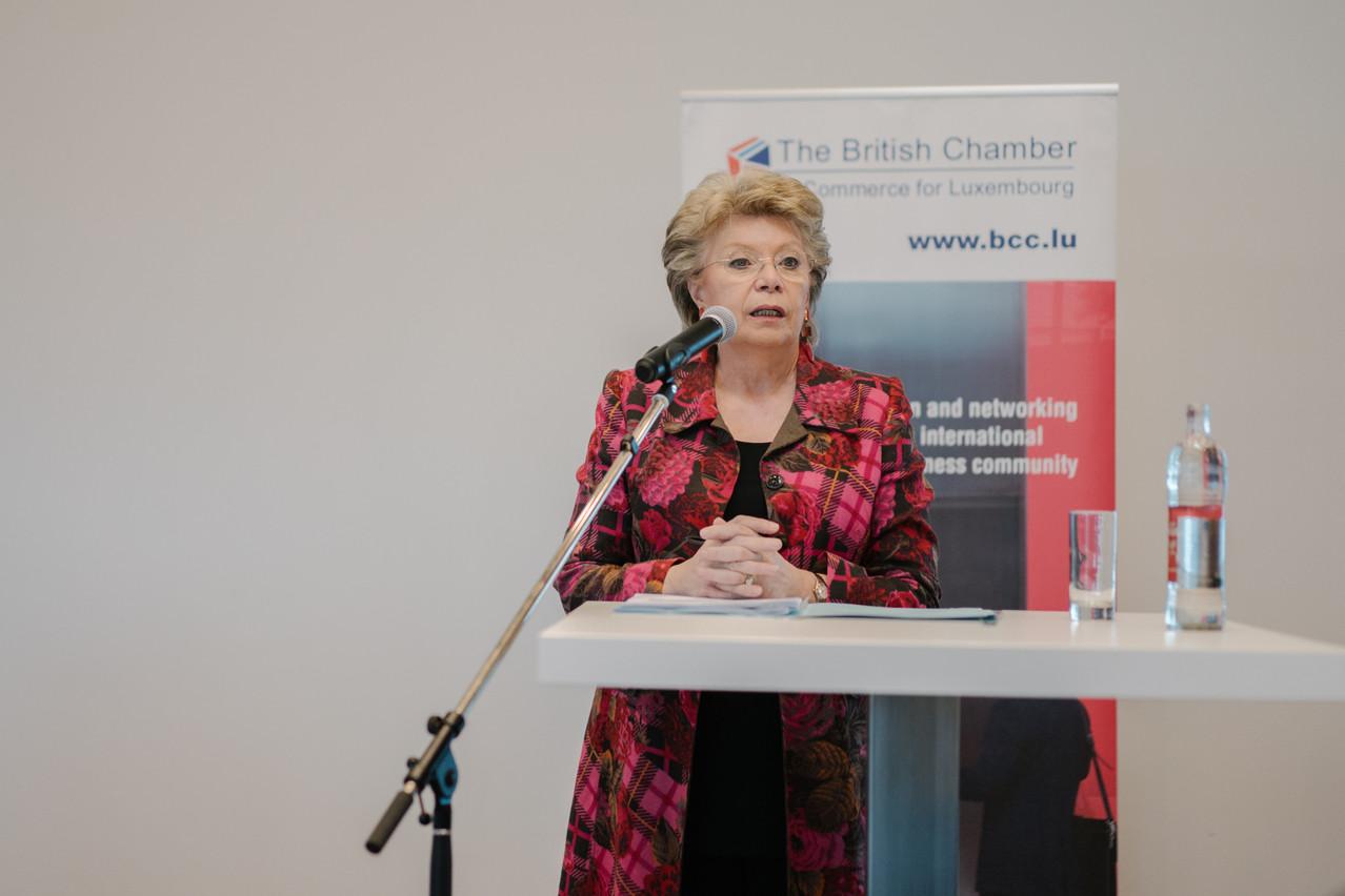Viviane Reding: «Non, nous ne devons rien réinventer. Nous n'avons qu'à appliquer ce dont nous disposons, au bénéfice d'une construction fière et souveraine.» (Photo: Marion Dessard/archives Maison moderne)