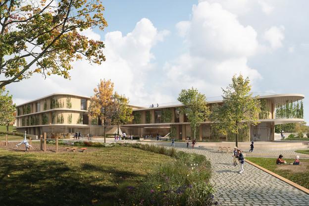 Le projet proposé par Schemel Wirtz Architectes Associés, en association avec Franz&Sue, dévoile une architecture chaleureuse et adaptée aux enfants. (Illustration:Schemel Wirtz Architectes Associés et Franz&Sue)