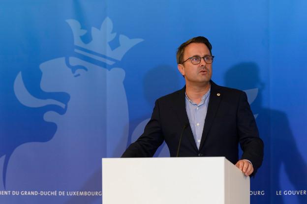 Le Premier ministre  Xavier Bettel a lancé un appel en tant que simple citoyen au respect des gestes barrières et des règles mises en place. (Photo: SIP / Jean-Christophe Verhaegen)