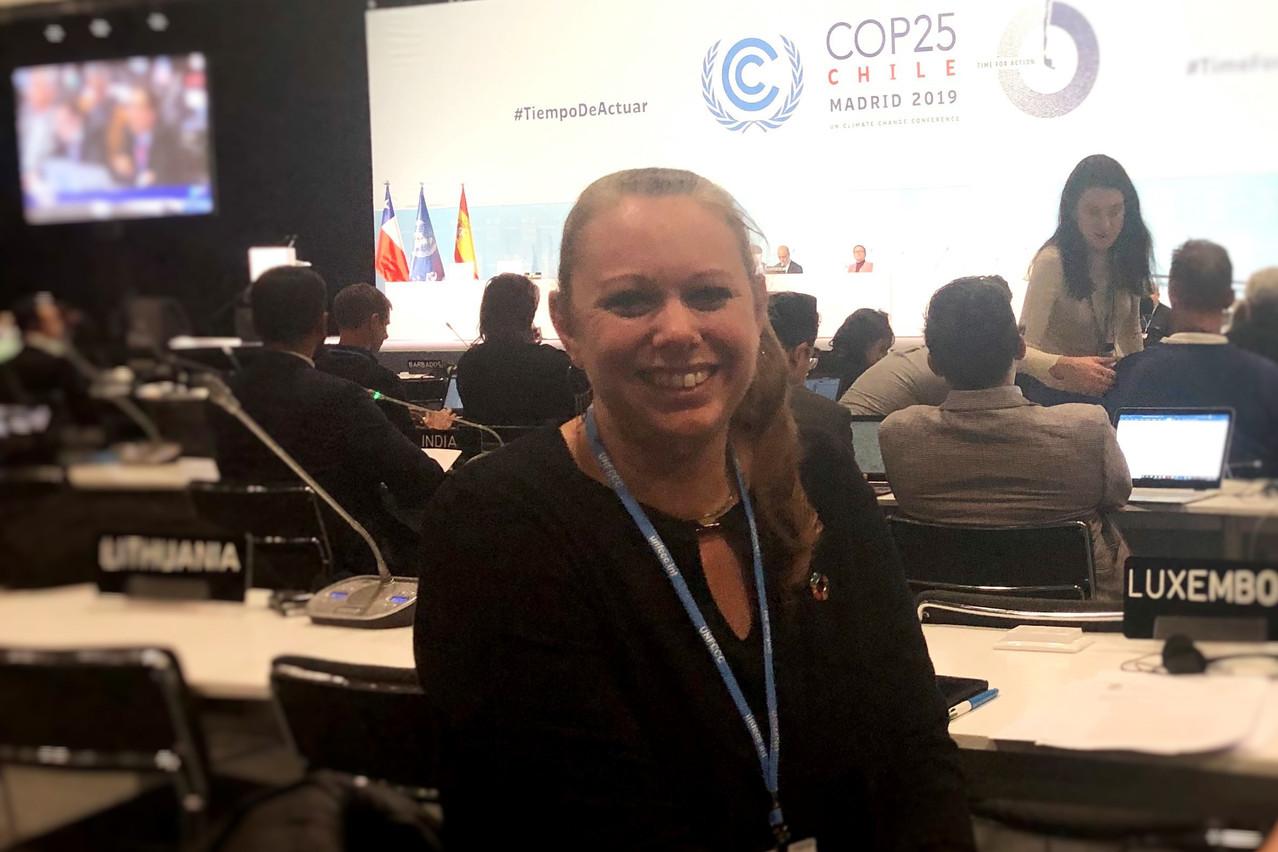 La ministre CaroleDieschbourg présidait la délégation luxembourgeoise présente à Madrid. (Photo: MECDD)
