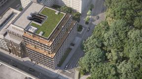 Le toit de l'immeuble sera verdurisé. ((Illustration: Beiler François Fritsch/Baltisse))