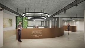 L'entrée de l'immeuble dégagera un caractère contemporain. ((Illustration: Beiler François Fritsch/Baltisse))