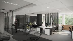 Les bureaux bénéficieront d'espaces flexibles dans leur aménagement. ((Illustration: Beiler François Fritsch/Baltisse))
