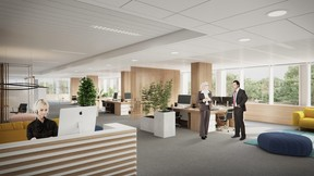Les bureaux offriront un espace de travail répondant aux dernières normes. ((Illustration: Beiler François Fritsch/Baltisse))