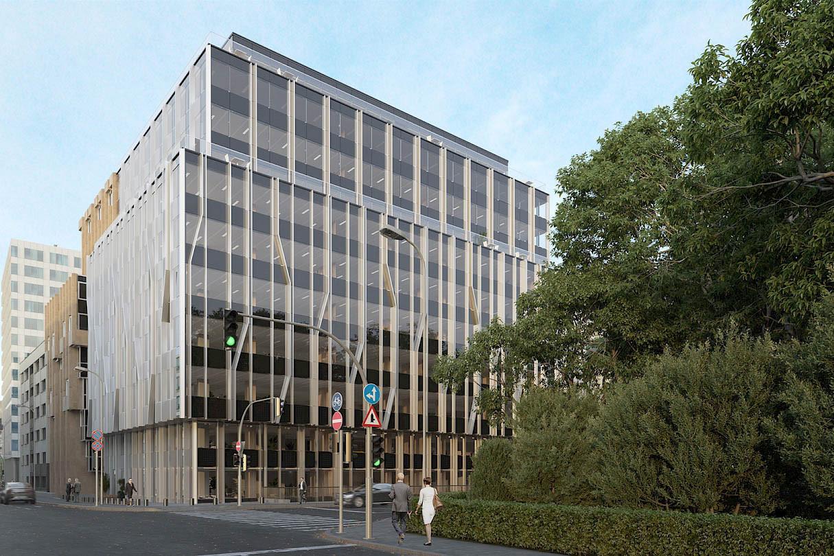L'immeuble Royal Park se situe à proximité du boulevard Royal à Luxembourg. (Illustration: Beiler François Fritsch/Baltisse)