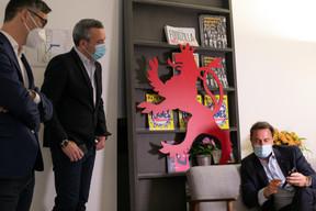 Julien Delpy, directeur du Paperjam Club,Matthieu Croissandeau, directeur éditorial, etXavier Bettel, Premier ministre ((Photo: Matic Zorman / Maison Moderne))