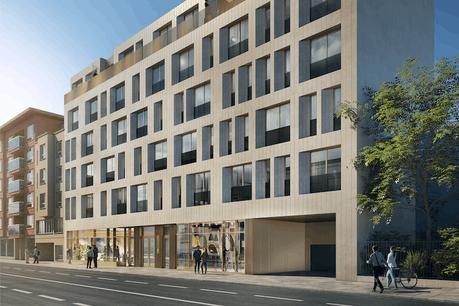 Le bâtiment Shades vient d'être revendu par Eaglestone à un investisseur belge. (Illustration: Moreno Architecture)