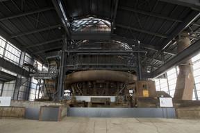 L'espace du Plancher des coulées sera aménagé pour y accueillir une scène provisoire. ((Photo: Fonds Belval))
