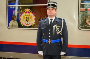 Le train conduisant les souverains et la délégation à Luxembourg est parti mardi matin de Bruxelles. ((Photo: SIP/Charles Caratini))