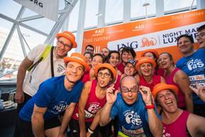 L'équipe d'Un petit pas pour le syndrome de Prader-Willi était présente sur la ligne de départ pour la 14e édition de l'ING Night Marathon Luxembourg. ((Photo: Nader Ghavami))