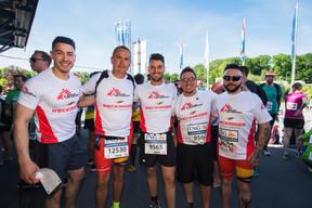 L'équipe de Reckinger était présente sur la ligne de départ pour la 14e édition de l'ING Night Marathon Luxembourg. ((Photo: Nader Ghavami))
