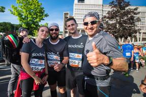 L'équipe de Sodexo était présente sur la ligne de départ pour la 14e édition de l'ING Night Marathon Luxembourg. ((Photo: Nader Ghavami))