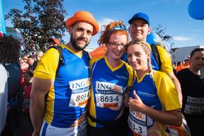 L'équipe de Verbandskëscht - soins & aides à domicile était présente sur la ligne de départ pour la 14e édition de l'ING Night Marathon Luxembourg. ((Photo: Nader Ghavami))