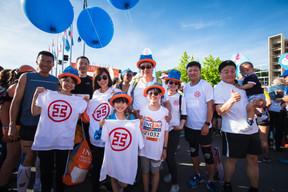 L'équipe ICBC était présente sur la ligne de départ pour la 14e édition de l'ING Night Marathon Luxembourg. ((Photo: Nader Ghavami))